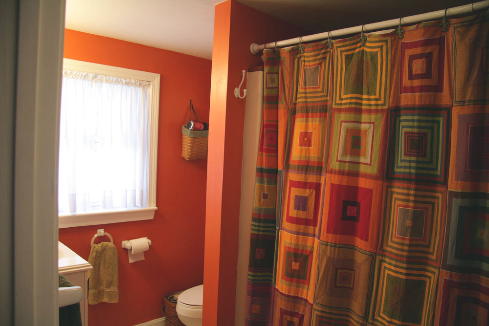 Bathroom Remodel Lime Green And Orange Shower Curtain Designs
