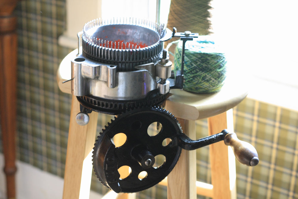 sock knitting machine
