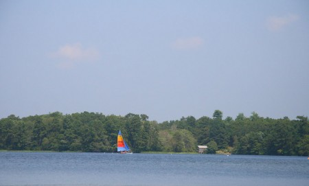 sailboat on fawn pond