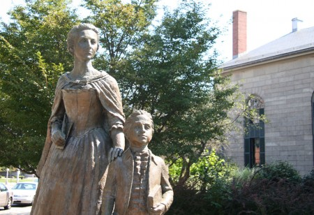 abigail and john quincy statue