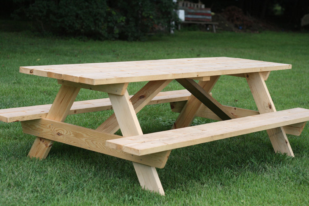 plans to build a square picnic table | Online Woodworking Plans