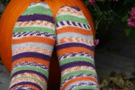 trekking stripes with pumpkins