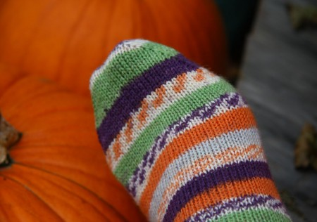 trekking toe with pumpkins