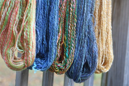 more plyed yarn on railing