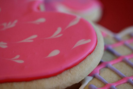 Pink Cookie Heart Edge