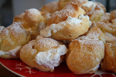 Plate of  Cream Puffs resized for blog