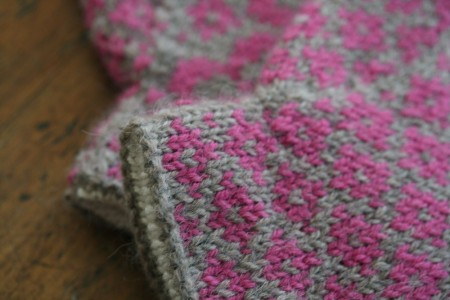 end of may mittens cuff and palm