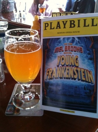 beer and playbill