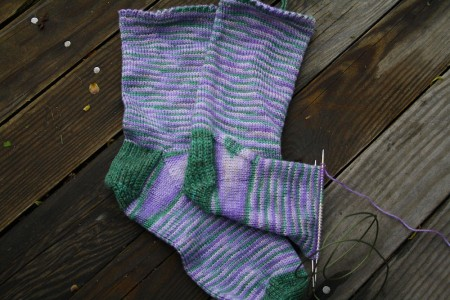 lilac socks progress resized for blog