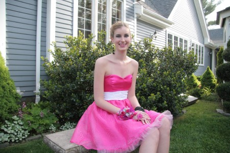 Hannah seated on bench 2 blog size