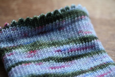 Jitterbug Sock Progress blog size