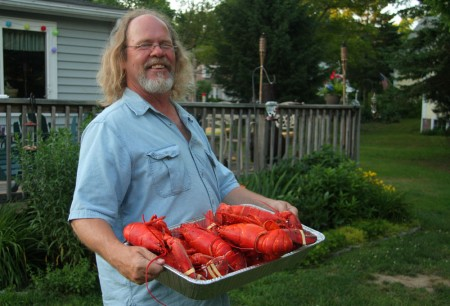 Dale and a LOT of lobsters blog size