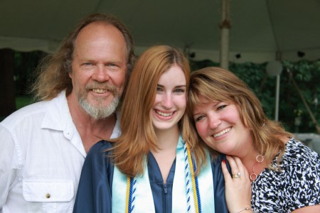 Mom Dad and Hannah before graduation blog size