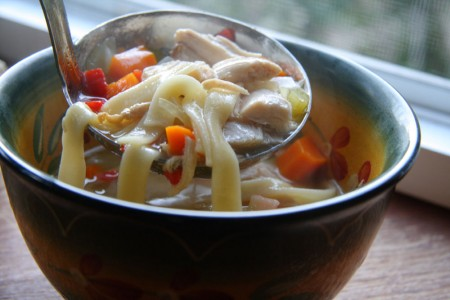 Homemade Chicken Noodle Soup blog size