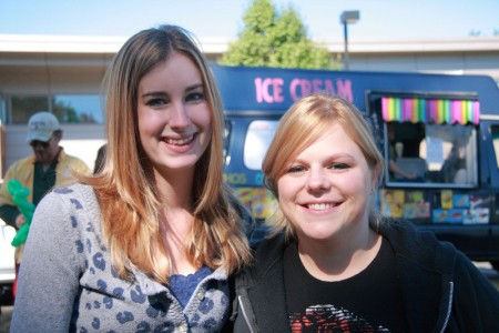 Hannah and Jessica at Family Day blog size