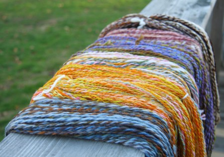 Six Skeins of Handspun blog size