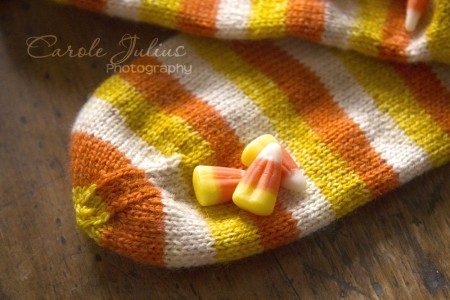 candy corn sock toes for carole knits