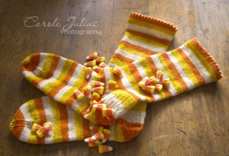 candy corn socks for carole knits