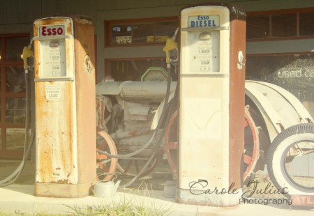 old gas pumps for carole knits
