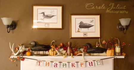 thanksgiving mantel for carole knits
