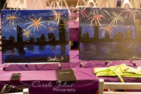 boston skyline paintings for carole knits