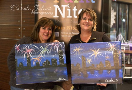 carole and joann paint nite for carole knits