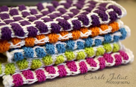 half folded dishcloths for carole knits