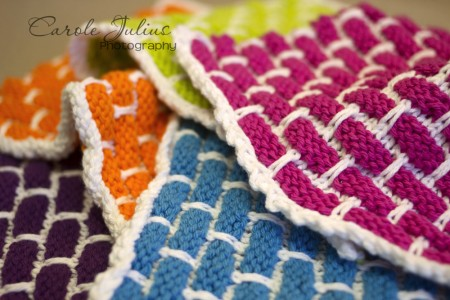 pile of dishcloths for carole knits