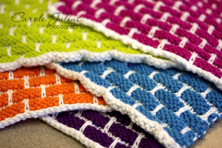 piled up dishcloths for carole knits