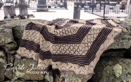 germinate shawl on rocks for carole knits