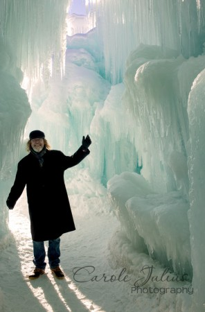 dale at ice castle for carole knits