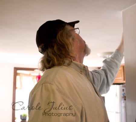 dale painting ceiling for carole knits