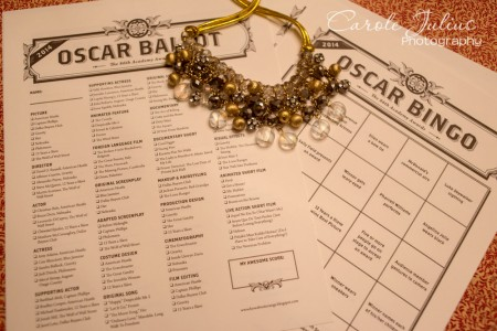 oscar bingo and ballot for carole knits