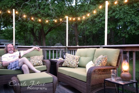 deck with lights for carole knits