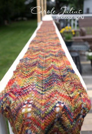 chevron scarf length for carole knits