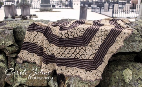 germinate shawl on rocks