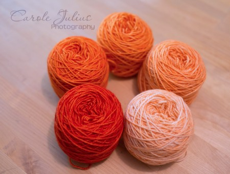 mystery shawl balls persimmon for carole knits