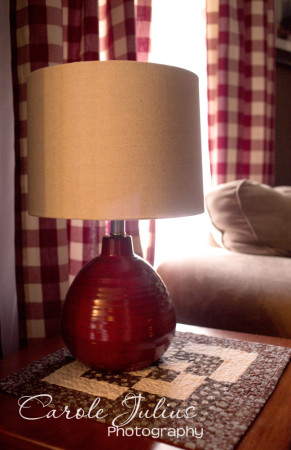 living room lamp for carole knits