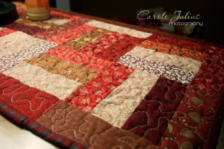 red table runner for carole knits