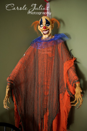 scary corner clown for carole knits