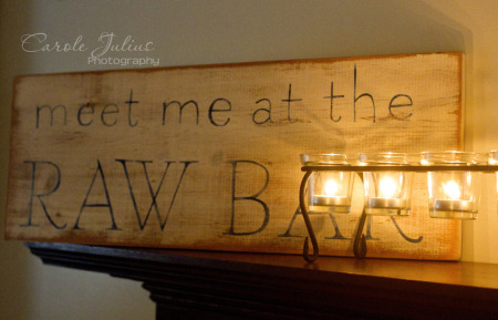 raw bar sign for carole knits