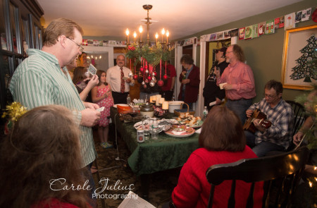 christmas eve singing for carole knits