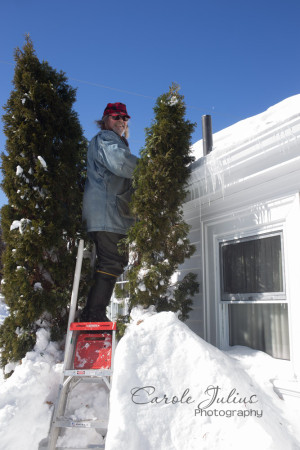 dale clearing ice dams for carole knits