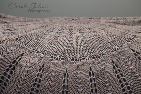 cactus flower shawl center for carole knits