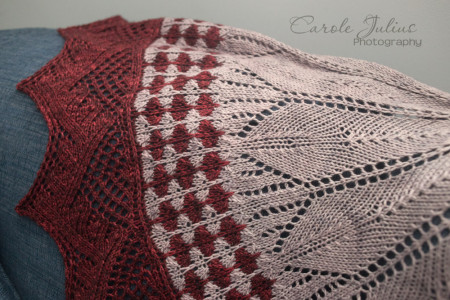 cactus flower shawl sideways for carole knits