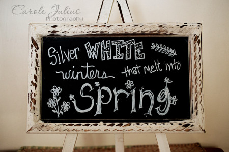 spring chalkboard art for carole knits