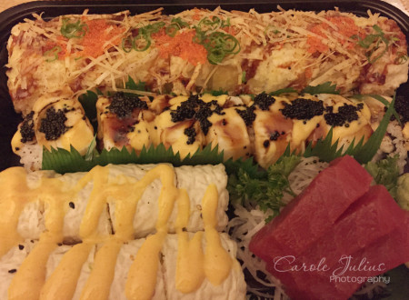 take out sushi for carole knits