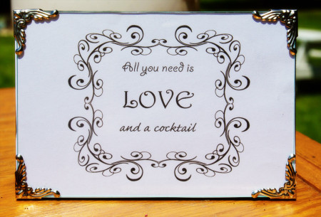 all you need is love frame for carole knits