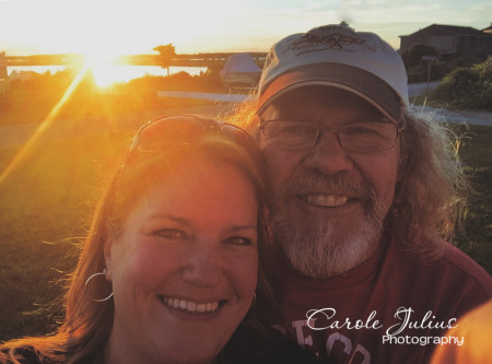 sunset selfie for carole knits