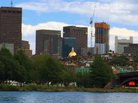 state house dome from charles river for carole knits